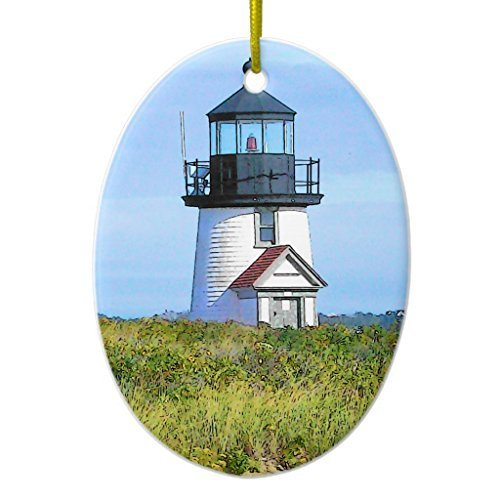 - Valentine Herty Ornament Decorations Brant Point Lighthouse Vintage Nantucket Ornament Oval Christmas Tree Christmas Ornaments Idea