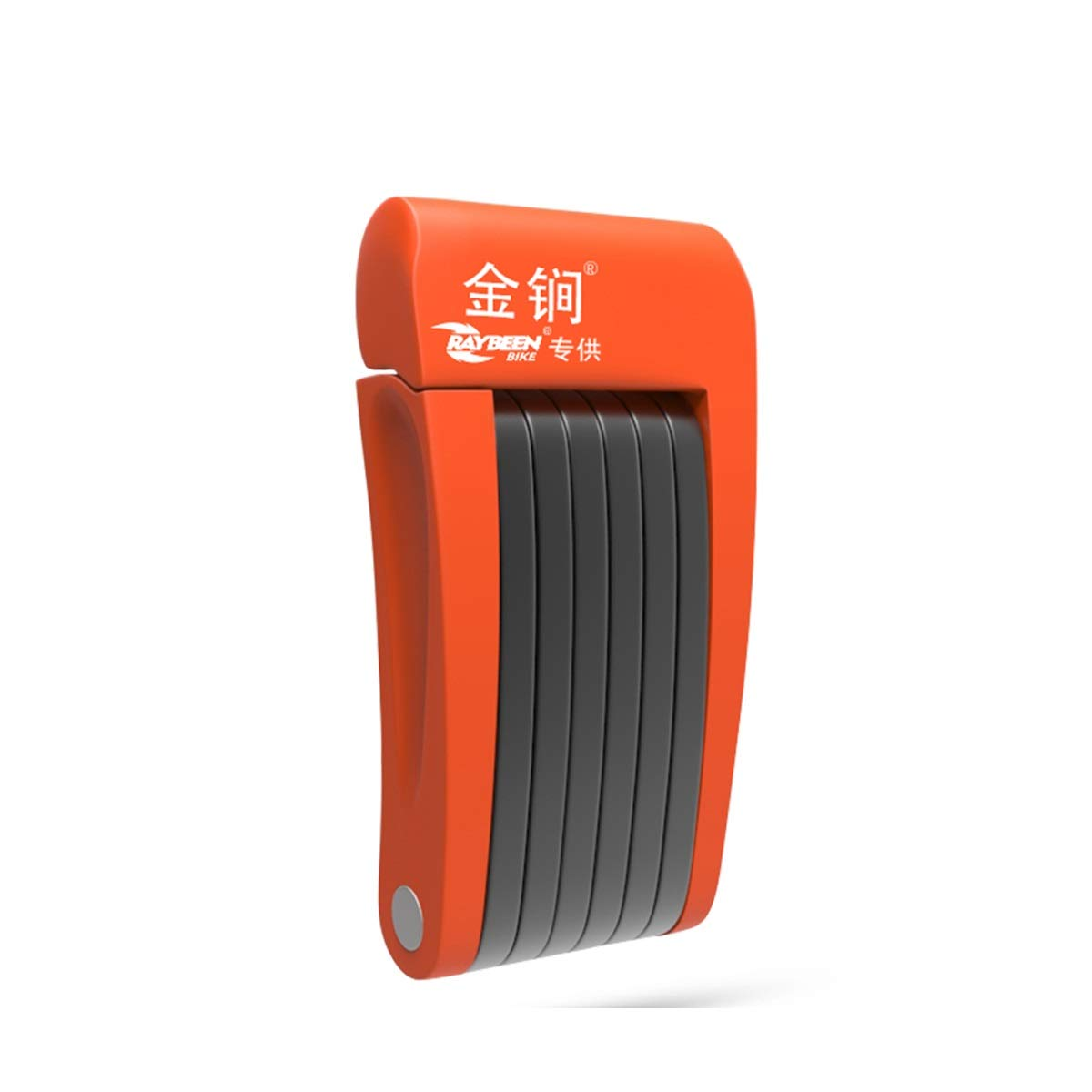 ZHONGYUE Bicycle Lock, Mountain Bike Password Lock, Anti-Theft Lock, Foldable Lock, Bundled Space 20CM (Color : Orange)