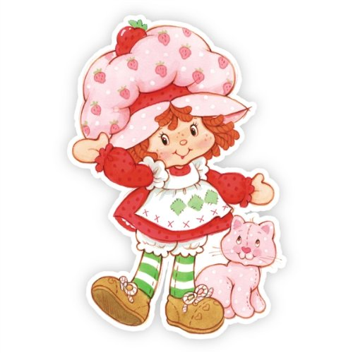 Walls 360 Peel & Stick Wall Decals: Classic Strawberry Shortcake and Custard (Strawberry Shortcake Wall Stickers)