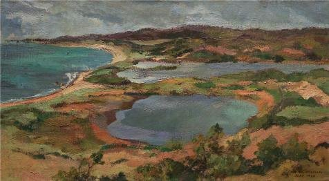 (Perfect Effect Canvas ,the Vivid Art Decorative Canvas Prints Of Oil Painting 'William Horace Littlefield,Saconesset Hills,1930', 8x15 Inch / 20x37 Cm Is Best For Gift For Girl Friend And Boy Friend And Home Gallery Art And Gifts)