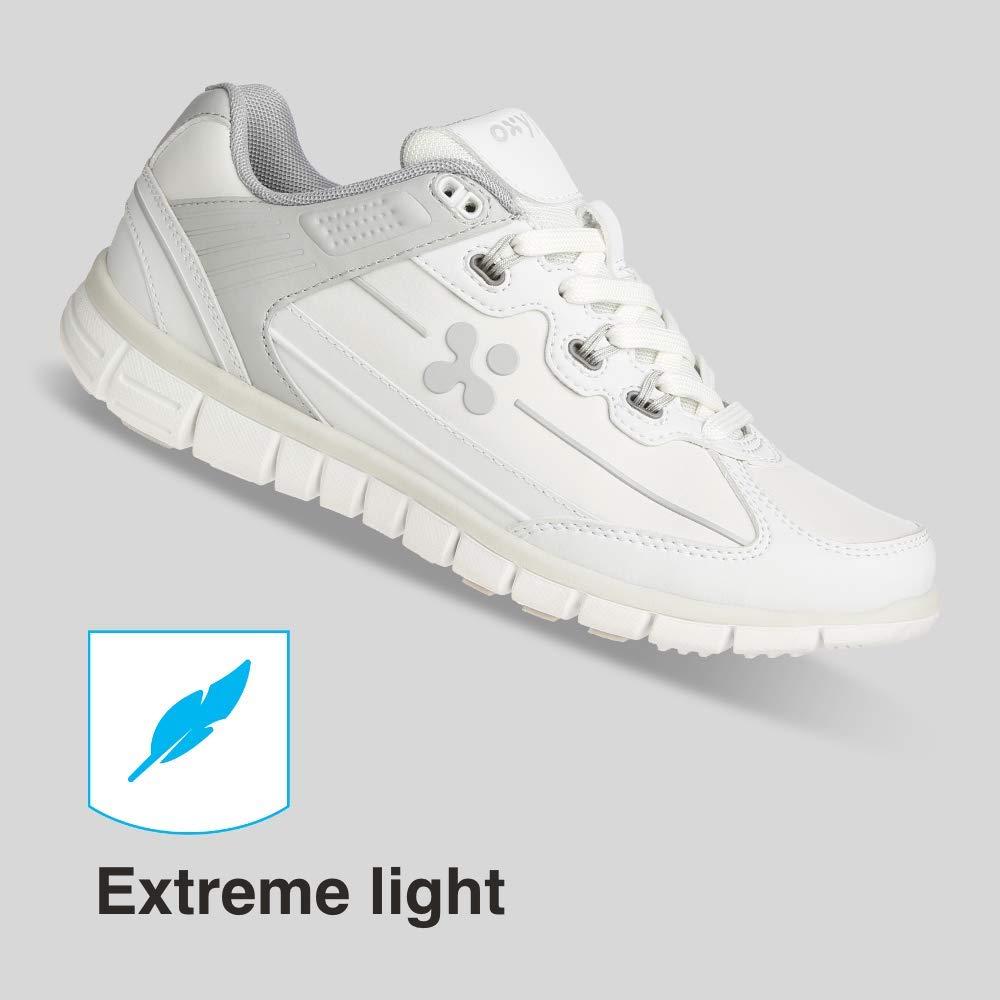 Fuchsia Antistatic Leather Nursing Trainers White//Fuchsia Oxypas Oxysport Sunny Slip-resistant 3.5 UK 36 EU