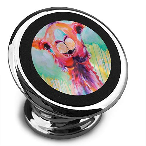 Baerg Universal Magnetic Phone Car Mounts Magnet Holder Color Painting Llama Magnetic Mount for Phone 360° Rotation -
