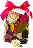 Manu Home Rose Potpourri ~ Fill the air in your space with our Fresh Rose Scent~ Large Beautiful Rose Potpourri made with Essential Oils ~ Over 12oz~