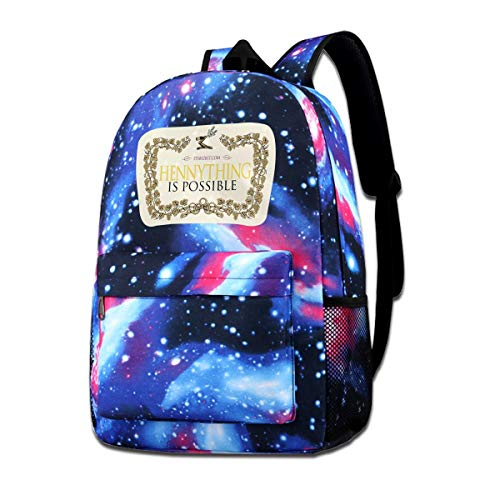 WUDCGSTDU Dark Chocolate Hennything Is Possible, Brandy Alcohol Parody Star Schoolbag For Children And AdolescentsOne Size -