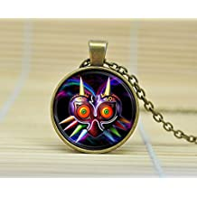 SunShine Day Legend Of Zelda Game Majoras Mask Colorful Charm Necklace Glass Cabochon Necklace A3121
