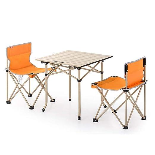 TYZXR Mesa Plegable Ajustable y sillas Silla de Pesca portátil ...