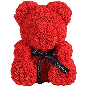 Luxury Rose Bear | Rose Teddy Bear | Perfect for Mothers Day Gifts, Anniversary Gifts, Baby Shower Gifts, and Birthday Gifts 85