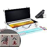American Mahjong Set with 4 PUSHERS / RACKS COMBO in ALUMINUM CASE (WESTERN Mah jongg 166 Tiles)