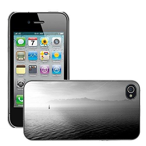 Stampato Modelli Hard plastica Custodie indietro Case Cover pelle protettiva Per // M00421713 Bateau à voile Ocean Open Sea eau // Apple iPhone 4 4S 4G
