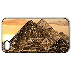 pyramids - Case Cover for iPhone 4 and 4s (Ancient Series, Watercolor style, Black)