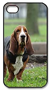 For Case Ipod Touch 4 Cover Case Basset Hound hunting dog PC Custom For Case Ipod Touch 4 Cover Black