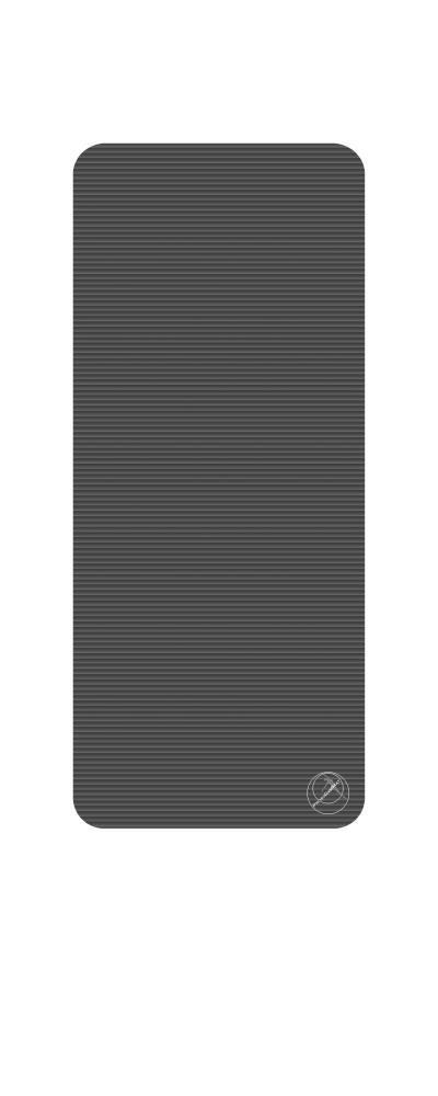 ProfiGymMat Gymnastikmatte 140x60x1,5 cm anthrazit mit Ösen