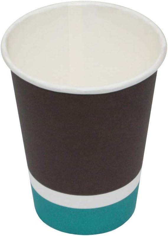 CUPS FRANCE 500 Gobelets Carton 9oz-260ml pour caf/é /à emporter gobelets jetables pour Boissons Chaudes//Froides - CF170014-TRICOLORE GM 500, 9oz-260ml