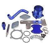 Ruien EGR-DK-1700 EGR Throttle Valve Cooler Delete Kit for Dodge Ram 2500 3500 4500 5500 6.7L (408ci) L6 Cummins Diesel Turbo 2010-2012