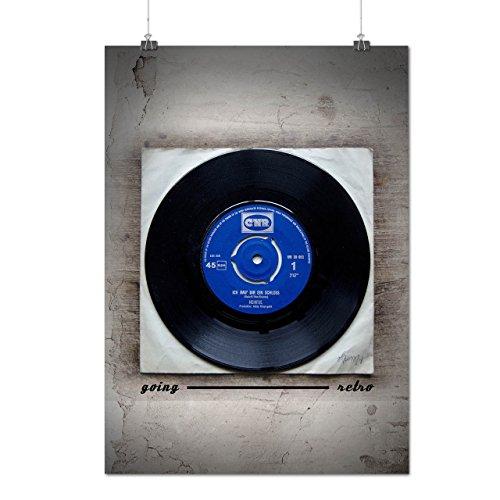 School Midi Disk (Classic Vinyl Disc Old Music Matte/Glossy Poster A2 (17x24 inches) | Wellcoda)