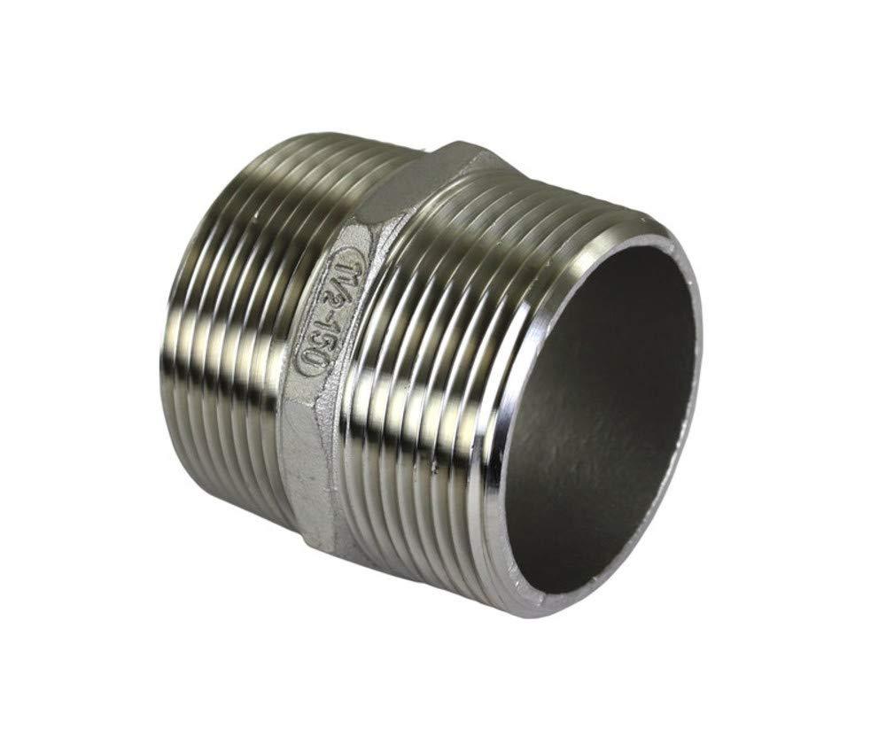 ISO Hex Nipple 1-1//2 Male NPT Ports