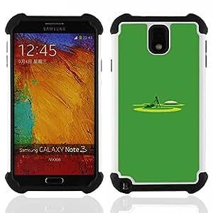 """SAMSUNG Galaxy Note 3 III / N9000 / N9005 - 3 en 1 impreso colorido de Altas Prestaciones PC Funda chaqueta Negro cubierta gel silicona suave (Siega minimalista Trabajo Yard Lawn"""")"""