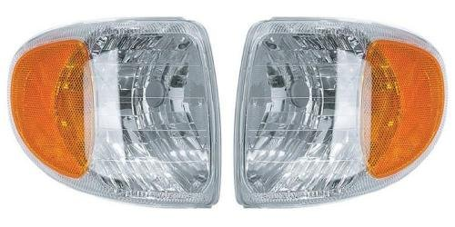 (Go-Parts PAIR/SET - Compatible 1998-2001 Mercury Mountaineer Corner Lights Assemblies/Lens Cover - Left & Right (Driver & Passenger) Replacement For Mercury Mountaineer)