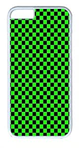 Hanifa Dirar Hadad's Shop 3585031M34432841 IMARTCASE iPhone 6 Case, Green_and_black_checkerboard_pattern iPhone 6 Plus Case and Cover Polycarbonate Hard Plastic Case for iPhone 6 Plus 5.5
