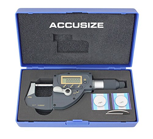 Ltd. MD10-0001 Accusize Co 0-1//0-25mm x 0.00005//0.001mm Bluetooth Digital Quick Micrometer Accusize Tools ABS Origin Speed Mic Snap Indicating Lever Action Built-in Wireless Transmission IP65 Coolant Proof