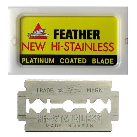 Feather 10 Razor Blades New Hi-Stainless Double Edge - Blade