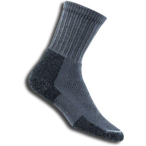 Thorlo Thick Cushion Hiking Crew Sock, Pewter, Large