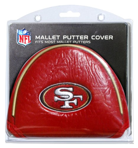 Team Golf NFL San Francisco 49ers Golf Club Mallet Putter Headcover, Fits Most Mallet Putters, Scotty Cameron, Daddy Long Legs, Taylormade, Odyssey, Titleist, Ping, Callaway (Green Bay Packers And San Francisco 49ers)