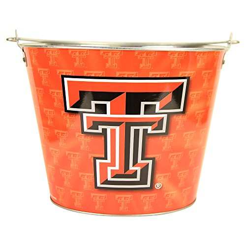 Collegiate Full Color Beer Buckets (Holds 5+ Beers and Ice) - Texas Tech Red Raiders (Texas Tech Red Raiders Ice)