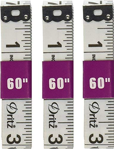 (3 pack - Dritz Vinyl Tailoring Tape Measure for Sewing, 5/8 by 60-Inch)