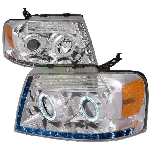 Spec-D Tuning 04-08 Ford F150 R8 Style Projector Headlight (R8 Style Projector Headlights)