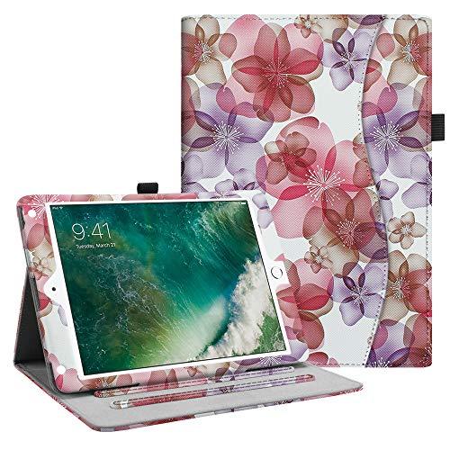 Fintie iPad 9.7 2018 2017 / iPad Air 2 / iPad Air Case - [Corner Protection] Multi-Angle Viewing Folio Cover w/Pocket, Auto Wake/Sleep for Apple iPad 6th / 5th Gen, iPad Air 1/2, Silk Flowers