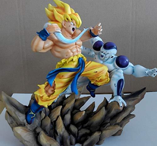 ToyFun GK 1/6 Dragon Ball Super Saiyan Son Goku VS Long-Tail Frieza Resin Statue Home Furnishing Articles G1684