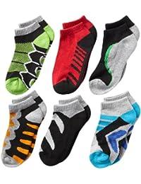 Jefferies Socks Boys' Tech Sport Low-Cut Socks  Six-Pack