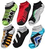 Jefferies Socks Big Boys' Tech Sport Low Cut Socks  (Pack of 6), Multi, Medium