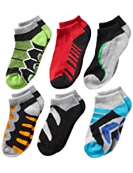 Jefferies Socks Toddler Boys\' Tech Sport Low-Cut Socks Six-P...