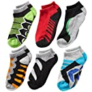 Jefferies Socks Boys' Tech Sport Low-Cut Socks  Six-Pack