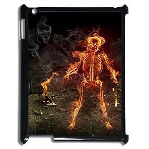 Ipad2,3,4 Skeleton Phone Back Case Personalized Art Print Design Hard Shell Protection HG033180