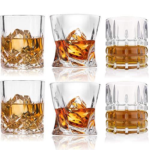 Whiskey Glasses-Premium 10, 11 OZ Scotch Glasses Set of 6 /Old Fashioned Whiskey Glasses/Style Glassware for Bourbon/Rum…