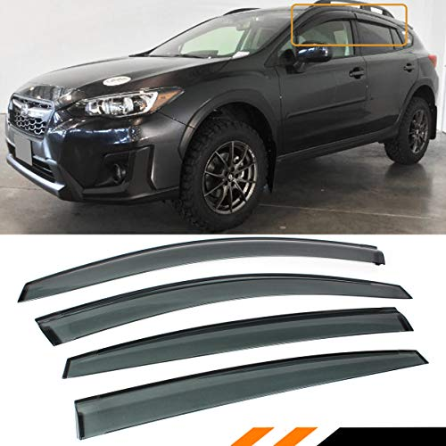 Cuztom Tuning Fits for 2018 2019 Subaru Crosstrek & 2017-2019 Impreza 5 Door Hatchback Smoke Window Visor Rain Guard - Subaru Deflectors Wind