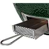 WANRAY Slid Out Ash Drawer Removable Ash Catcher Works for Large Big Green Egg Grill Kamado Ceramics Ash Tool Easy to Clean BGE Smoker Accessories