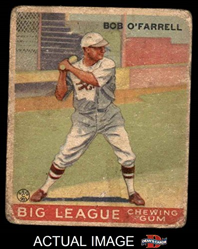 1933 Goudey # 34 Bob O'Farrell St. Louis Cardinals (Baseball Card) Dean's Cards 1 - POOR - Farrell O St