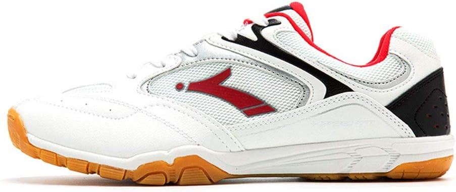 FJJLOVE Zapatos del bádminton de los Hombres, de Peso Ligero Calzado Deportivo Profesional Caminar Calzado Respirable de Tenis Cubierta Deportes Zapatillas de Deporte,Rojo,44: Amazon.es: Hogar
