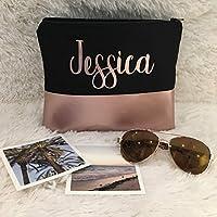Rose Gold Custom Name Makeup Bag | Bridesmaid Gift | Monogram Bag | Wedding | Toiletry Bag | Cosmetic Bag | Zipper Pouch | Edmonton, Alberta