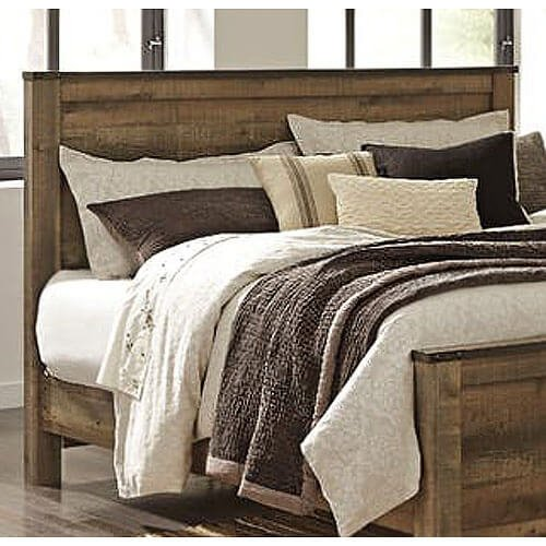 signature design by ashley b44658 trinell rustic panel headboard king