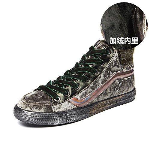 Deportivos Alto De Zapatos De green amp;G Mujer Ocasionales Zapatos De The Zapatos Algodón NGRDX Zapatos Estudiante Tacón De thick Femenina ZRIYqv