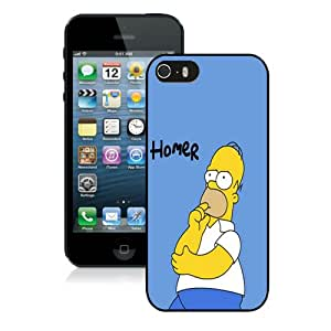 New Unique And Popular iPhone 5 Case Designed With Homer Simpson HD-640x1136 wallpapers Black iPhone 5 Cover