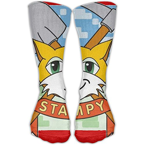 Stampy Cat Elevated Performance Crew Socks For Cycling Moisture Control Elastic Socks Protect The Wrist 11.8inch]()