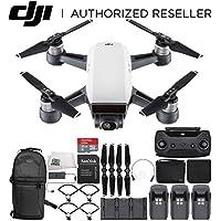 DJI Spark Portable Mini Quadcopter Fly More Combo Ultimate Back pack Bundle (Alpine White)