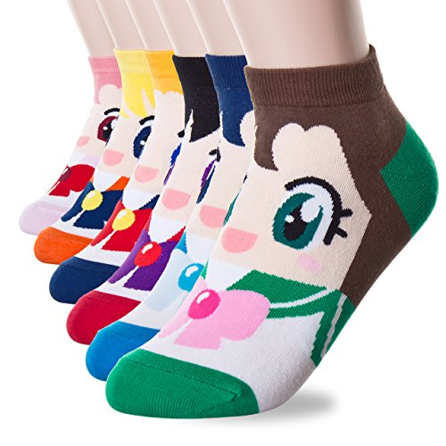 Danis Choice Cute Cartoon Character Socks  Sailor Moon 6Set  One Size