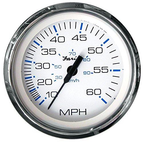 Faria Chesapeake Weiß SS 4 Speedometer 60 MPH by Faria